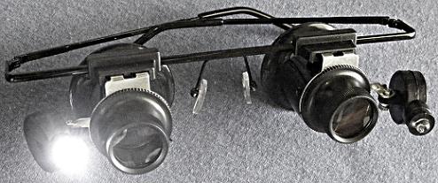 Double Lighted Eyeloupe Frame