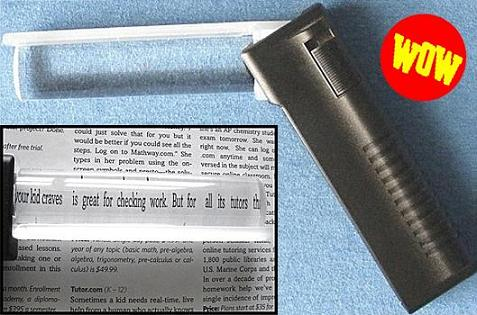 Lighted Line Magnifier