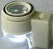 8X Metered Dome Magnifier, Light On