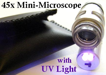 UV Lighted 45X Mini-Microscope